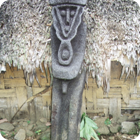 A tree-fern statue – Dorig, Gaua, Banks